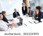 business people group on... | Shutterstock . vector #301224593