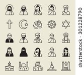 set of religion icon. | Shutterstock .eps vector #301228790