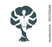 tree many hands   Shutterstock .eps vector #301232666