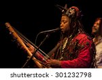Small photo of Amsterdam, The Netherlands - July, 3 2015: concert of african band BKO Quintet at Bimhuis, as part of cultural and world music festival Amsterdam Roots.