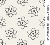 atom doodle seamless pattern... | Shutterstock .eps vector #301254098