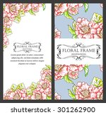 invitation with floral... | Shutterstock . vector #301262900