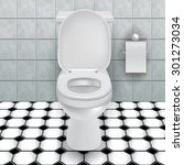 toilet bowl in a modern...   Shutterstock .eps vector #301273034