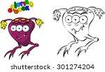 cartoon space monster. coloring ... | Shutterstock . vector #301274204