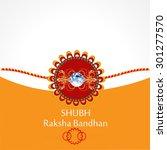 raksha bandhan greeting card or ... | Shutterstock .eps vector #301277570