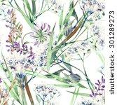 field flowers seamless pattern | Shutterstock . vector #301289273