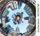 3d city planet inside city... | Shutterstock . vector #301301768