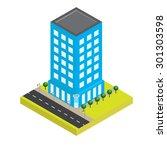 bank isometric style | Shutterstock .eps vector #301303598