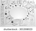 a big set of various business...   Shutterstock .eps vector #301308023