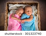 Newborn Twins Sleeping Inside...