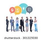business team against app...   Shutterstock . vector #301325030