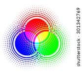 halftone rgb color model   Shutterstock .eps vector #301342769