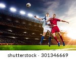 soccer players in action on... | Shutterstock . vector #301346669