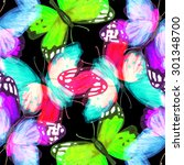 watercolor seamless pattern... | Shutterstock . vector #301348700
