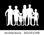 big happy family. father ...   Shutterstock . vector #301351298