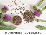 Seeds Of A Milk Thistle With...