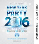 happy new year party poster.... | Shutterstock .eps vector #301354580