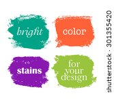 bright color grunge elements... | Shutterstock .eps vector #301355420