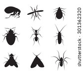 pests vector silhouettes...   Shutterstock .eps vector #301362320