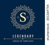 luxury logo template flourishes ...   Shutterstock .eps vector #301369754