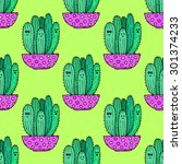 vector seamless pattern with...   Shutterstock .eps vector #301374233