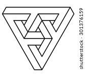 illusion triangle vector ... | Shutterstock .eps vector #301376159