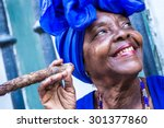 Portrait Of African Cuban Woma...