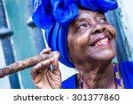 portrait of african cuban woman ... | Shutterstock . vector #301377860