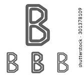 black line b letter logo design ...