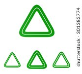 green line triangle logo design ...