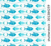 seamless pattern with fish ...   Shutterstock .eps vector #301384259