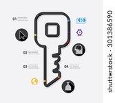 business infographic | Shutterstock .eps vector #301386590