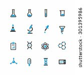 science icons | Shutterstock .eps vector #301395986