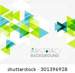abstract geometric background.... | Shutterstock .eps vector #301396928