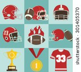 football game sport icons... | Shutterstock .eps vector #301405370