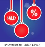 christmas sales advertisement... | Shutterstock .eps vector #301412414