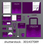 purple corporate identity... | Shutterstock .eps vector #301437089