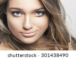 beautiful young woman with... | Shutterstock . vector #301438490