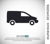 motor van. vector icon eps 10. | Shutterstock .eps vector #301442006