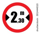 traffic sign prohibiting... | Shutterstock .eps vector #301444010