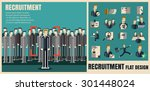 recruitment. picking the right... | Shutterstock .eps vector #301448024