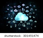 cloud networking concept ... | Shutterstock . vector #301451474