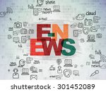 news concept  painted...   Shutterstock . vector #301452089