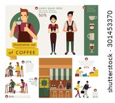 illustration element of coffee... | Shutterstock .eps vector #301453370