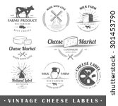 Set Of Vintage Labels Cheese....