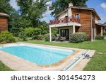 private swimming pool at... | Shutterstock . vector #301454273