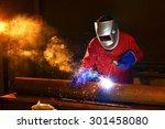 welder engineer workshop | Shutterstock . vector #301458080