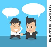 business shaking hand | Shutterstock .eps vector #301461518