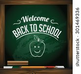 welcome back to school design.... | Shutterstock .eps vector #301469336