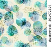 floral seamless pattern | Shutterstock . vector #301472924